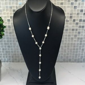 Vince Camuto New (N) Silver pear necklace